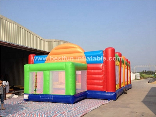Outdoor inflatable sport games football field