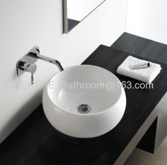 Hot sell sanitary ware bathroom ceramic round slim edge washbasin