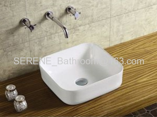 Hot sell Sanitary Ware Bathroom Ceramic Slim Edge Art Wash Basin