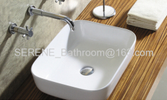 Hot sell Bathroom Ceramic Slim Edge Art Wash Basin