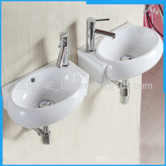Sanitary ware Ceramic White Wall Hung Art Wash Basin