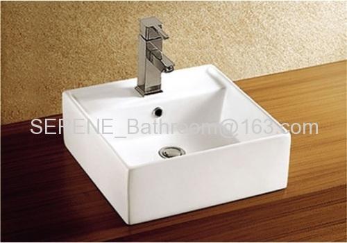 Hot sell sanitary ware Square ceramic white color wash basin
