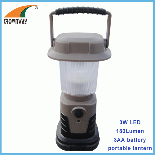 3W Led camping light 180Lumen high powe portable lantern 3*AA hook tent lamp