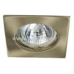halogen spot light aluminium square single ring