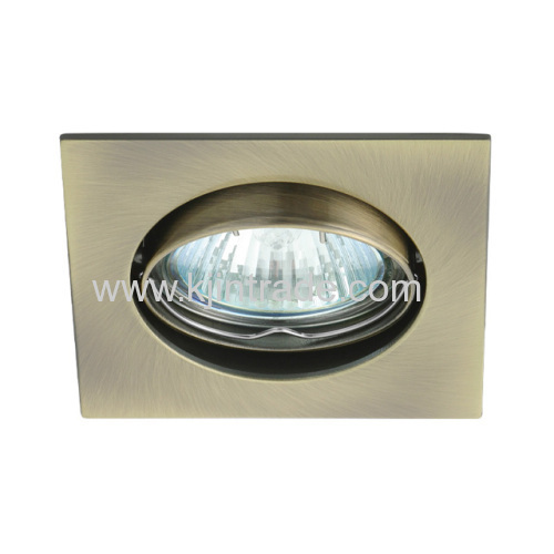 halogen spot light aluminium square double ring