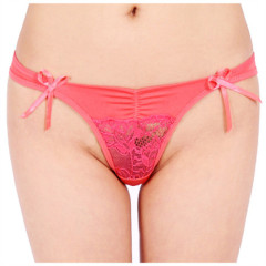 European and American hot sexy fancy net slim satin biniki underwear mature women panty