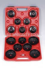 15 pcs Cup Type Oil Filter Wrench Set