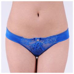 Yun Meng Ni Ladies sexy transparent lace and cute bow bikini underwear charming young girls sexy underwear