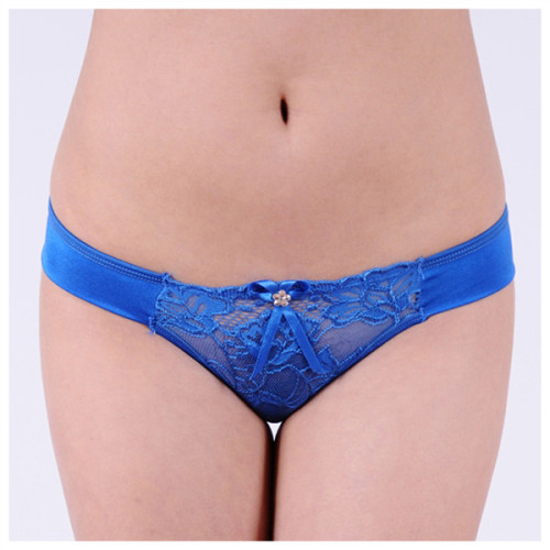 Yun Meng Ni Ladies Sexy Transparent Lace And Cute Bow Bikini Underwear Charming Young Girls Sexy