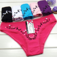 Sex slim girl panties for style new design fancy embroidered ladies brief mature women panties