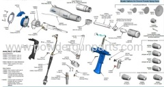 Encore Manual Powder Spray Gun spare parts