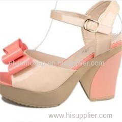 Girls Black Fashion Summer Party Shoes