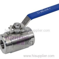 1 Piece Stainless Steel High Pressure Ball Valve