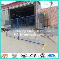 6 Foot Powder Coated Temporary Construction Fence include Top Connectors and Base