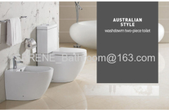 Sanitary ware Australia Style Ceramic Couple Closed Toilet P-trap 180mm Roughing-in