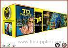 Movable 7D Mobile Cinema Movies 4 Seats / 6 Seats Digital Control