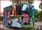 Movable Amazing 7D Rider Amusement Park Games With 6 Seats 6Dof