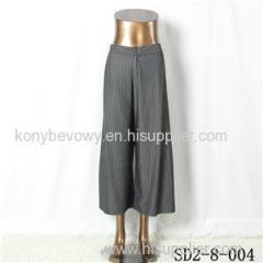 SD2-8-004 Latest Popular Knit Fashion Elastic Strip Loose Pants