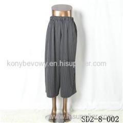 SD2-8-002 Latest Popular Knit Fashion Elastic Strip Loose Pants