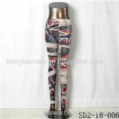 SD2-18-006 Fashion Knitting Trend National Flag Special Legging