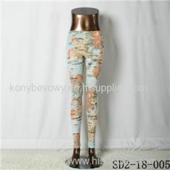 SD2-18-005 Fashion Knitting Open Smile Slim Legging