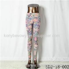 SD2-18-002 Fashion Knitting Open Smile Legging