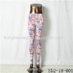 SD2-18-001 Fashion Knitting Open Smile Casual Legging
