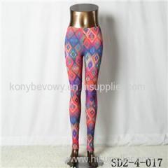 SD2-4-017 Fashion Knit Style Rhombus Gradual Change Thin Leggings