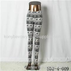 SD2-4-009 Fashion Knit Boho Lamb Animal Print Leggings