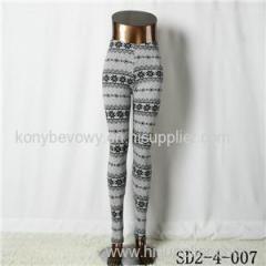 SD2-4-007 Fashion Knit Boho Snow Elastane Leggings
