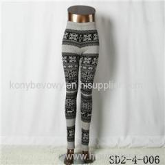 SD2-4-006 Fashion Knit Boho Fawn Elastane Style Leggings