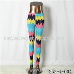SD2-4-004 Fashion Knit Boho Wave Sexy Style Leggings