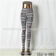 SD2-4-003 Fashion Knit Boho Rhombus Elastane Leggings