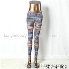 SD2-4-002 Fashion Knit Boho Wave Thin Leggings