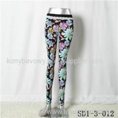 SD1-3-012 Women Fashion Sexy Woven Printing High-waist Comfortable Leggings