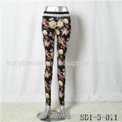 SD1-3-011 Women Fashion Sexy Woven Printing High-waist Comfortable Leggings