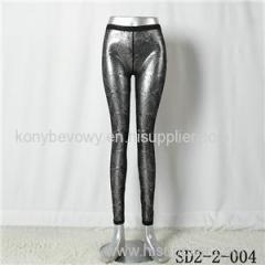 SD2-8-004 Fashion Knitting Metal Lace Sexy Slim Leggings