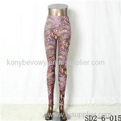 SD2-6-015 Popular Knit Fashion Leopard Print Sexy Leggings