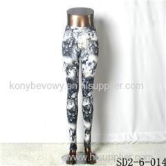 SD2-6-014 Popular Fashion Knit Elastic Starry-sky Leggings