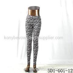SD1-001-12 BOHO Diamond Woven Slim Leggings
