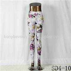 SD4-10 Fashion Sport High-waist Flower Yoga Leggings