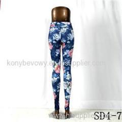SD4-7 Fashion Sport High-waist Flower Yoga Leggings