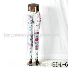 SD4-6 Fashion Sport High-waist Butterfly Yoga Slim Leggings
