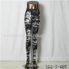 SD2-7-007 Popular Knit Fashion Bandhnu Elastic Slim Leggings