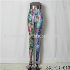 SD2-11-013 Latest Fashion Fashion Knit Starry-sky Print Slim Leggings