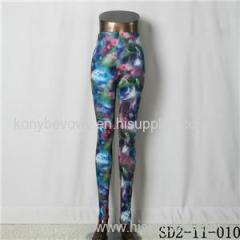 SD2-11-010 Latest Fashion Fashion Knit Starry-sky Print Slim Leggings