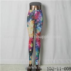 SD2-11-008 Latest Fashion Fashion Knit Starry-sky Print Slim Leggings