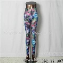 SD2-11-007 Latest Fashion Fashion Knit Starry-sky Print Slim Leggings