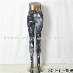 SD2-11-006 Latest Fashion Fashion Knit Starry-sky Print Slim Leggings
