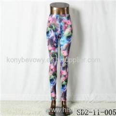 SD2-11-005 Latest Fashion Fashion Knit Starry-sky Print Slim Leggings